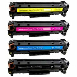 Compatible 4-pack hp 202x high yield laser toner cartridges (black, cyan, magenta, yellow)