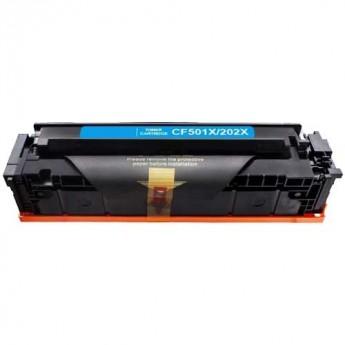 Compatible hp 202x cyan cf501x toner cartridge (high yield 2,500 pages)