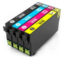 Remanufactured Bulk Set of 4 Ink Cartridges for Epson 822XL: 1 Each of HY Black, Cyan, Magenta & Yellow