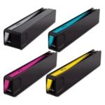 Remanufactured Bulk Set of 4 Ink Cartridges for HP 970XL / 971XL: 1 Each of Black, Cyan, Magenta, Yellow