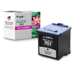 Compatible HP 701 Black Ink Cartridge (CC635A) for FAX 640, 650, 2140
