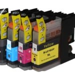 Compatible Brother LC103 4-Set High-Yield Ink Cartridges: 1 each of Black / Cyan / Magenta / Yellow