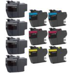 Compatible Bulk Set of 10 Ink Cartridges for Brother LC3019: 4 Black & 2 each of Cyan, Magenta, Yellow