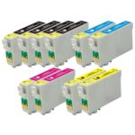 Remanufactured Replacement for Epson T060 10-Set Ink Cartridges: 4 Black & 2 each of Cyan / Magenta / Yellow