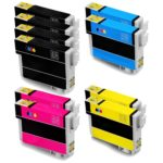 Remanufactured Epson 288XL 10-Set Ink Cartridges: 4 Black & 2 each of Cyan / Magenta / Yellow