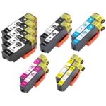 Remanufactured Epson 410XL 12-Set Ink Cartridges: 4 Black & 2 each of Photo Black / Cyan / Magenta / Yellow