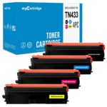 Compatible Set of 4 Brother TN433 Toners: High Yield Black / Cyan / Magenta / Yellow
