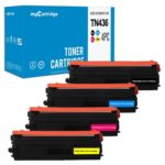 Compatible Set of 4 Brother TN436 Toners: Super High Yield Black / Cyan / Magenta / Yellow