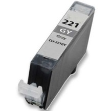 Compatible canon cli-221 gray ink cartridge w/ chip