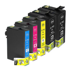 Remanufactured epson 702xl 5-set ink cartridges: 2 black and 1 each of cyan / magenta / yellow