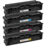 Compatible HP 206X High-Yield Toner Cartridge 4-Piece Combo Pack (No Chip)